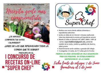 "I CONCURSO DE RECETAS ON-LINE ""SUPER CHEF"""