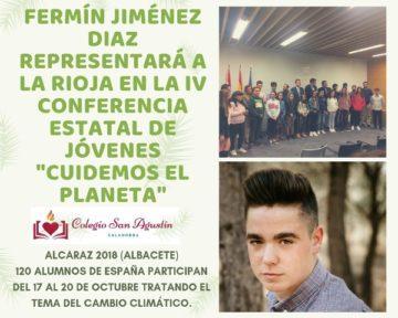 FERMÍN JIMENEZ DE 4º DE LA ESO EN LA IV CONFERENCIA CONFINT CUIDEMOS LE PLANETA