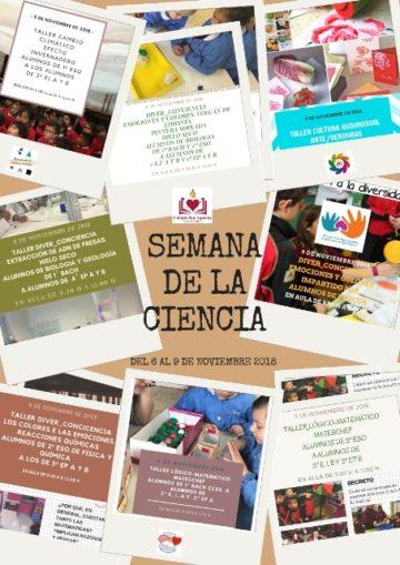 SEMANA DE LA CIENCIA DEL 6 AL 9 DE NOVIEMBRE DE 2018