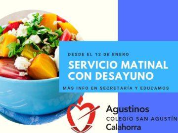 SERVICIO MATINAL CON DESAYUNO